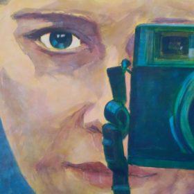 simultan, 2018, Acryl auf Leinwand, 70 x 100 cm