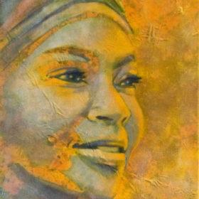 sunrise, 2018, Acryl auf Molino auf Leinwand, 90 x 55 cm