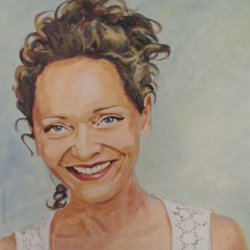 Maya Boog T3, 2014, Acryl auf Leinwand, 60 x 60 cm