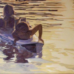 Sonnenuntergang, 2009, Acryl auf Leinwand, 80 x 100 cm