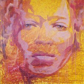 Tribute to Nneka, 2018, Acryl auf Leinwand, 130 x 130 cm