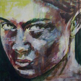 Kompromisslos, 2017, Acryl auf Leinwand, 90 x 90 cm