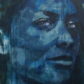 Provokant, 2017, Acryl auf Leinwand, 90 x 65 cm