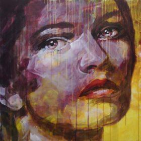 unerreichbar, 2017, Acryl auf Leinwand, 90 x 90 cm