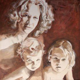 BLN, 2008, Acryl auf Leinwand, 90 x 90 cm