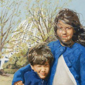 Bahai, 2009, Acryl auf Leinwand, 90 x 120 cm