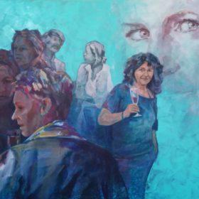 Blue Moments, 2019, Acryl auf Leinwand, 130 x 130 cm