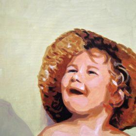 M mit Hut II, 2006, Acryl auf Leinwand, 70 x 50 cm