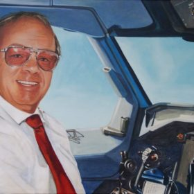Pilot, 2010, Acryl auf Leiwand, 80 x 100 cm