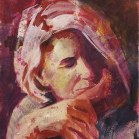 ... mir ..., 2018, Acryl auf Leinwand, 60 x 50 cm
