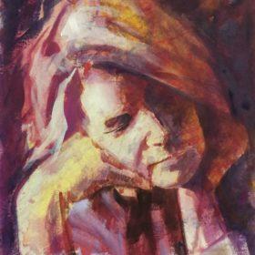 … mir … , 2018, Acryl auf Leinwand, 50 x 60 cm