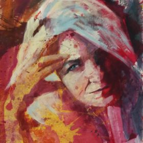 … sein , 2018, Acryl auf Leinwand, 50 x 60 cm