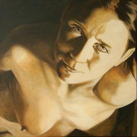 Sepia, 2009, Acryl auf Leinwand, 80 x 80 cm