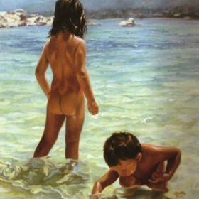 Vourvouru, 2004, Öl auf Leinwand, 50 x 70 cm