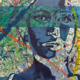 Urban, 2017, Acryl auf Leinwand, 75 x 50 cm