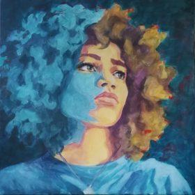 desire, 2020, Acryl auf Leinwand, 60 x 60 cm
