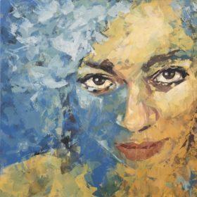 expect, 2020, Acryl auf Leinwand, 90 x 90 cm