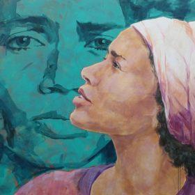 sense, 2020, Acryl auf Leinwand, 90 x 120 cm