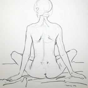 Rückenakt, 2014, Graphit auf Papier, 60 x 45 cm