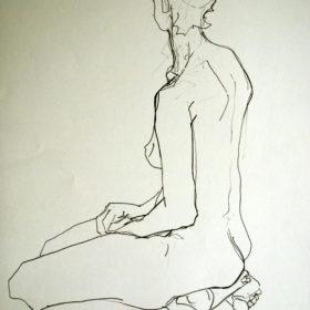 Rückenstudie II, 2008, Graphit auf Papier, 60 x 45 cm