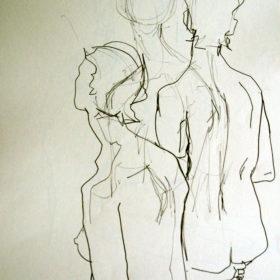 Rückenstudie I, 2008, Graphit auf Papier, 60 x 45 cm